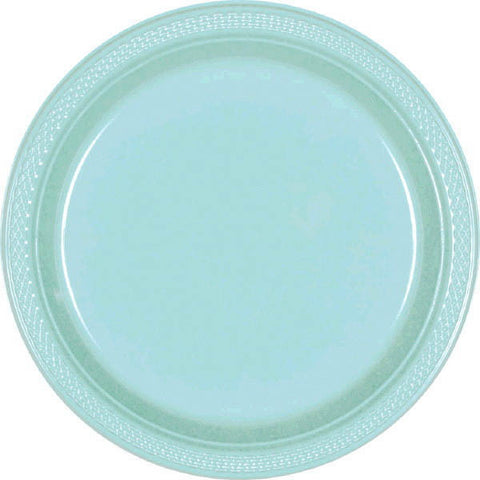 "PLASTIC PLATES - ROBIN'S EGG BLUE   7""   20 COUNT"