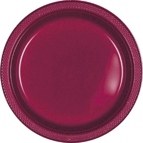 "PLASTIC PLATES - BERRY   7""   20 COUNT"