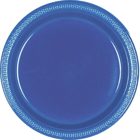"PLASTIC PLATES - NAVY FLAG BLUE   7""   20 COUNT"
