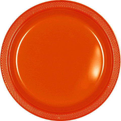 "PLATE - ORANGE PEEL 9""    PLASTIC   20 CT/PKG"
