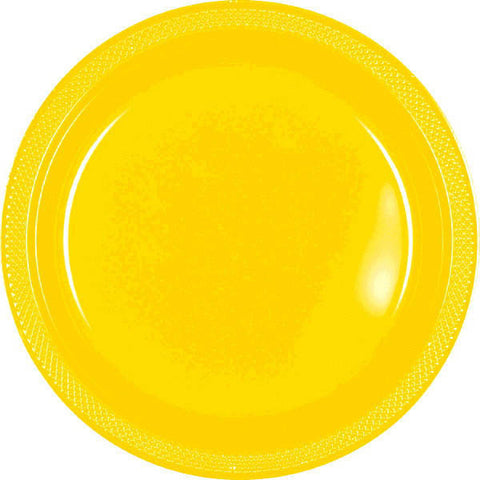 "PLATE - YELLOW SUNSHINE 9""    PLASTIC   20 CT/PKG"