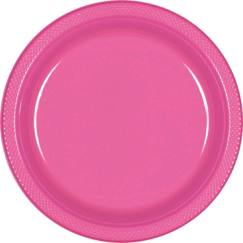 "PLATE - BRIGHT PINK 9""    PLASTIC   20 CT/PKG"