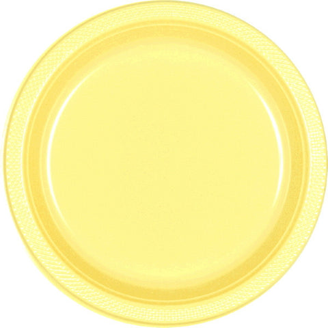 "PLATE - LIGHT YELLOW 9""    PLASTIC   20 CT/PKG"