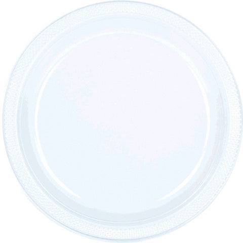 "PLATE - CLEAR 9"" PLASTIC  20 CT/PKG"