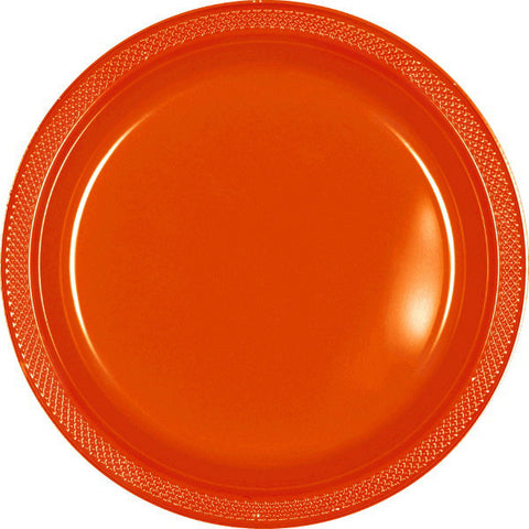"PLATE - ORANGE PEEL 10 1/4"" PLASTIC 20 CT/PKG"