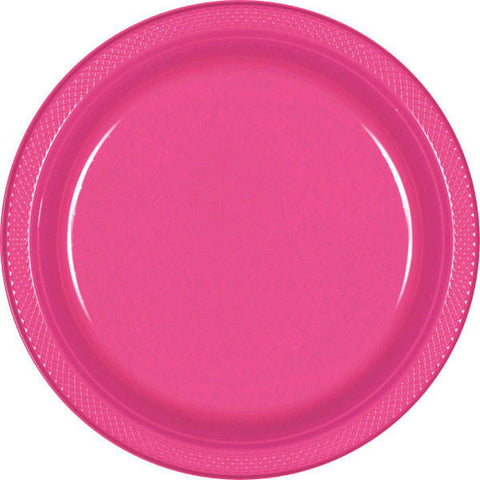 "PLATE - BRIGHT PINK 10 1/4"" PLASTIC 20 CT/PKG"