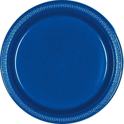 "PLATE - BRIGHT ROYAL BLUE 10 1/4"" PLASTIC 20 CT/PK"