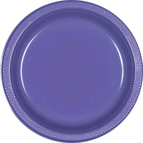 "PLATE - NEW PURPLE 10 1/4"" PLASTIC 20 CT/PKG"