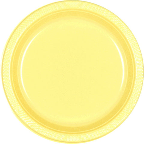 "PLATE - LIGHT YELLOW 10 1/4"" PLASTIC 20 CT/PKG"