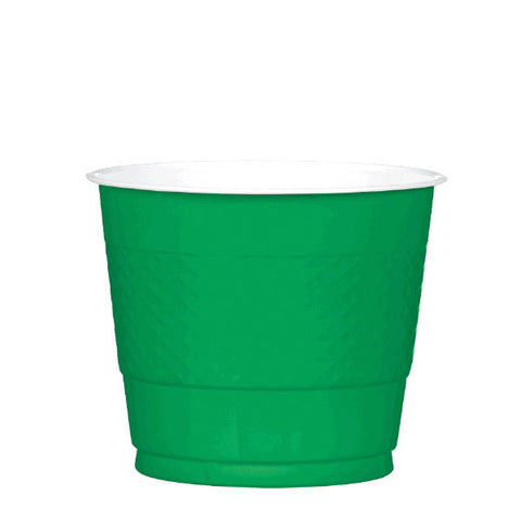 PLASTIC CUPS - FESTIVE GREEN   9OZ   20 COUNT