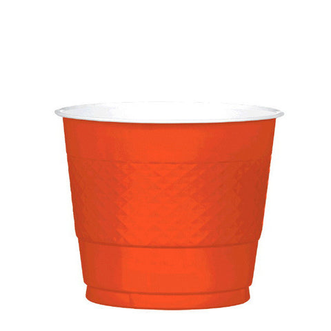 PLASTIC CUPS - ORANGE PEEL   9OZ   20 COUNT