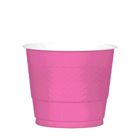 PLASTIC CUPS - BRIGHT PINK   9OZ   20 COUNT