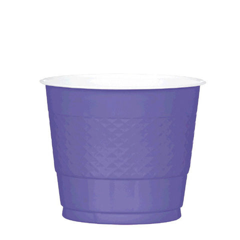 PLASTIC CUPS - NEW PURPLE   9OZ   20 COUNT