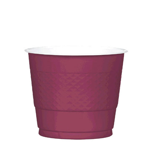 PLASTIC CUPS - BERRY   9OZ   20 COUNT