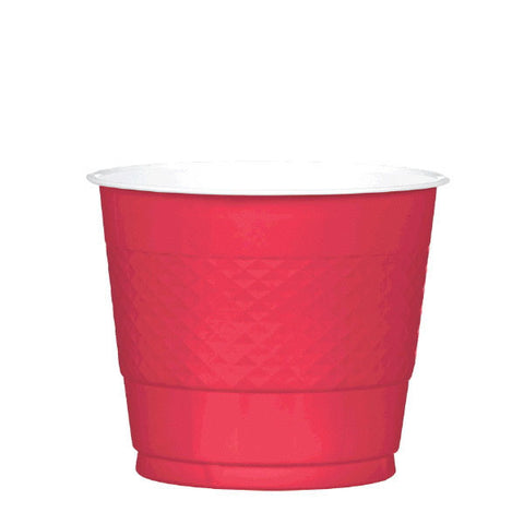 PLASTIC CUPS - RED   9OZ    20 COUNT