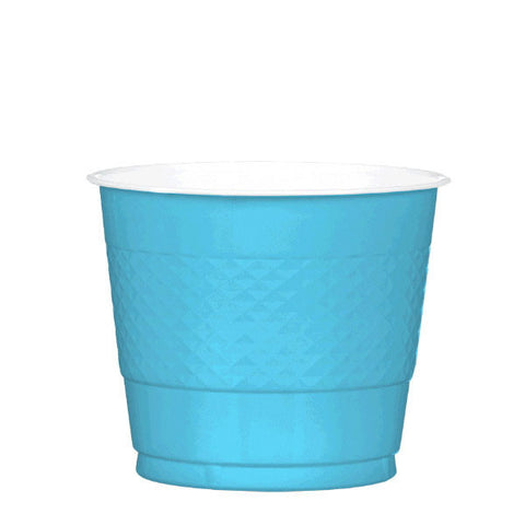 PLASTIC CUPS - CARIBBEAN BLUE  9OZ   20 COUNT