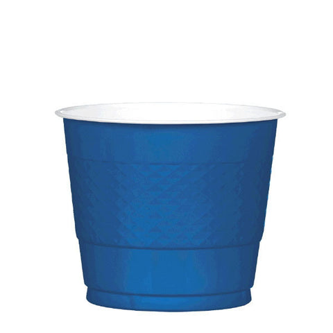 PLASTIC CUPS - NAVY FLAG BLUE   9OZ   20 COUNT