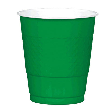 PLASTIC CUPS - FESTIVE GREEN   12OZ   20 COUNT