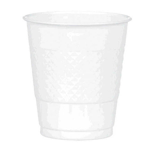 PLASTIC CUPS - WHITE   12OZ    20 COUNT