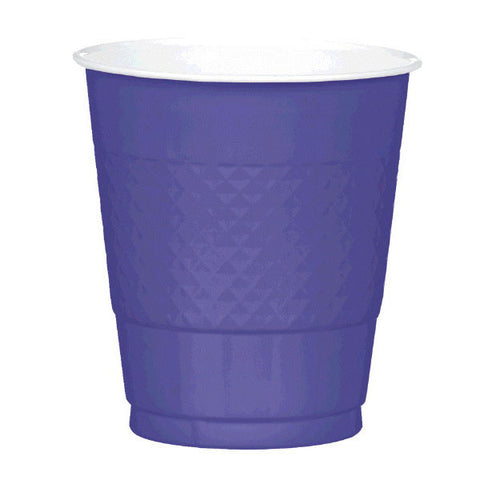 PLASTIC CUPS - NEW PURPLE   12OZ   20 COUNT