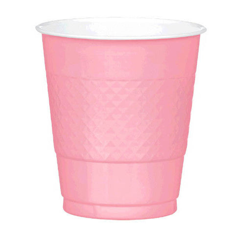 PLASTIC CUPS - NEW PINK   12OZ   20 COUNT