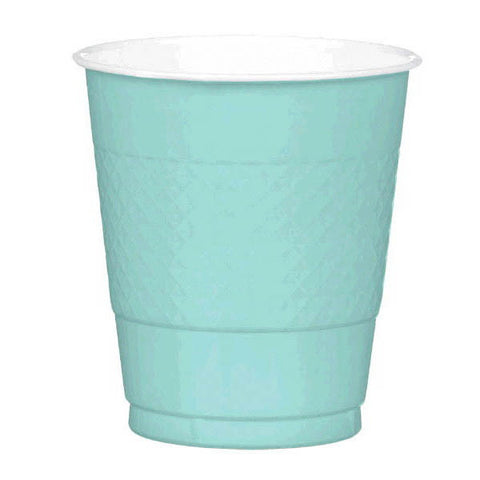 PLASTIC CUPS - ROBIN'S EGG BLUE   12OZ   20 COUNT
