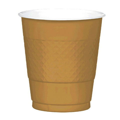 PLASTIC CUPS - GOLD SPARKLE   12OZ   20 COUNT