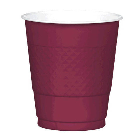 PLASTIC CUPS - BERRY   12OZ   20 COUNT