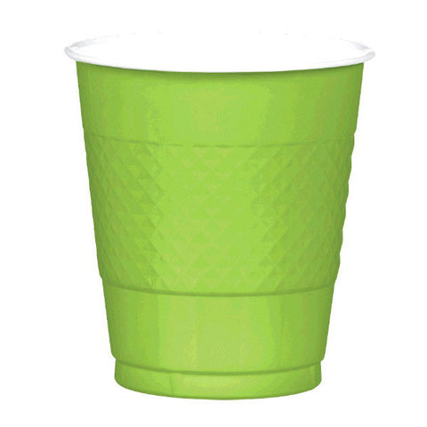 PLASTIC CUPS - KIWI GREEN   12OZ   20 COUNT