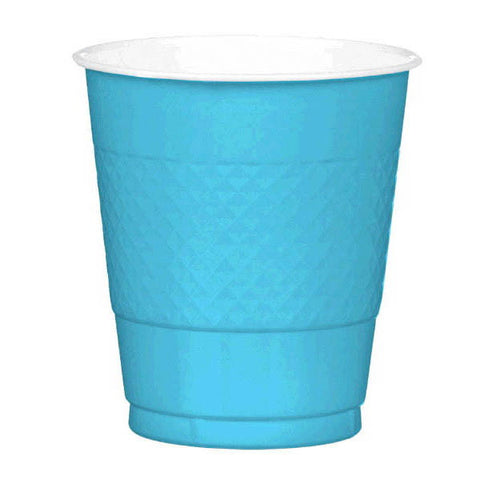 PLASTIC CUPS - CARIBBEAN BLUE   12OZ   20 COUNT