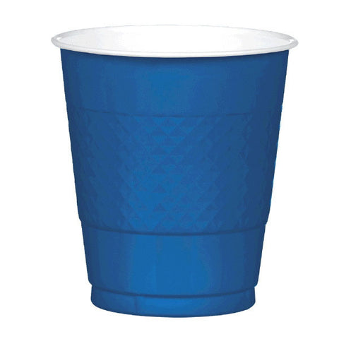 PLASTIC CUPS - NAVY FLAG BLUE   12OZ   20 COUNT