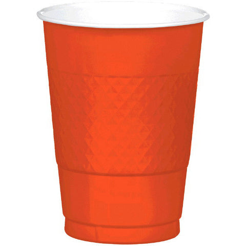 PLASTIC CUPS - ORANGE PEEL   16OZ   20 COUNT
