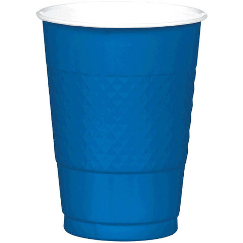 PLASTIC CUPS - ROYAL BLUE   16OZ   20 COUNT