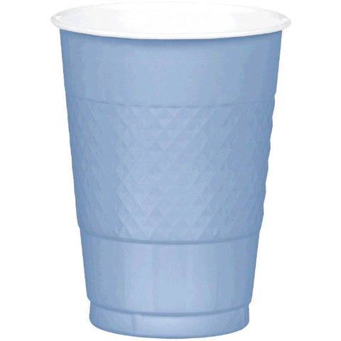 PLASTIC CUPS - PASTEL BLUE   16OZ   20 COUNT