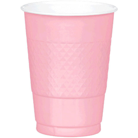PLASTIC CUPS - NEW PINK   16OZ   20 COUNT