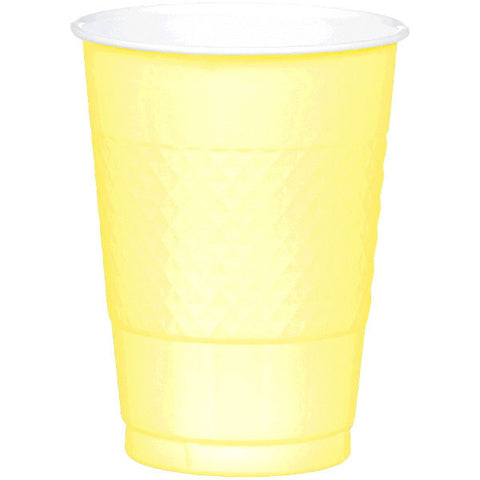 PLASTIC CUPS - LIGHT YELLOW   16OZ   20 COUNT