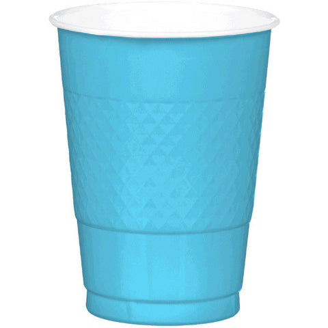 PLASTIC CUPS - CARIBBEAN BLUE   16OZ   20 COUNT