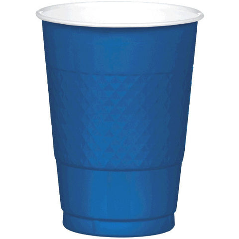 PLASTIC CUPS - NAVY FLAG BLUE   16OZ   20 COUNT