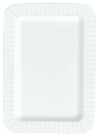"PLATE - WHITE APPETIZER 5"" X 7""         32 CT/PKG"