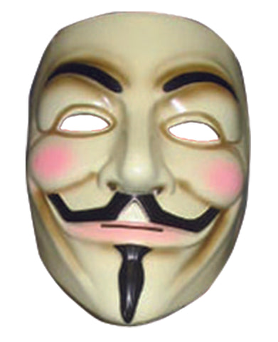 MASK - V FOR VENDETTA PLASTIC W/ELASTIC STRAP