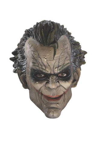 ARKHAM CITY JOKER 3/4 VINYL MASK - ADULT