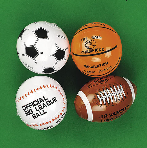 "INFLATABLE - SPORT BALL MINI ASST  8""   12 CT/PKG"