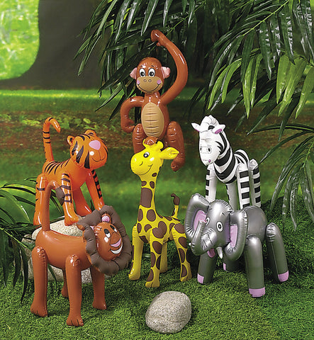 INFLATABLE - ZOO ANIMALS ASST            12 CT/PKG