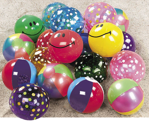 "INFLATABLE - BEACH BALL MINI ASST 7""   25 CT/UNIT"
