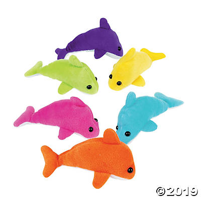 "5.5"" PLUSH DOLPHINS 12CT"