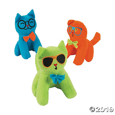 "5"" PLUSH SILLY CATS 12 COUNT"