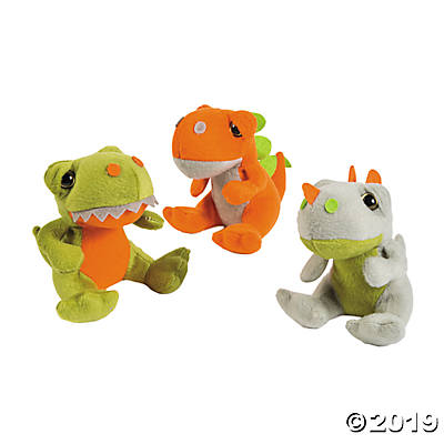 "5"" PLUSH DINOSAURS 12 COUNT"