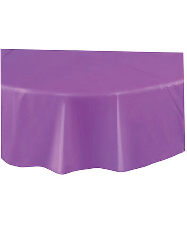 NEW PURPLE ROUND TABLECOVER