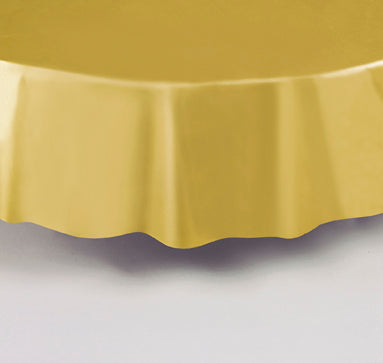 GOLD ROUND TABLE COVER