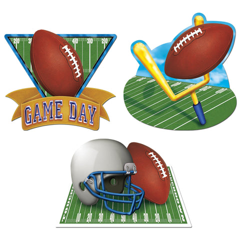 "CUTOUT - FOOTBALL GAMEDAY 18""              3 CT/PK"